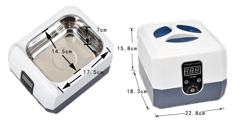 灵科超声波小型清洗机1300ml尺寸