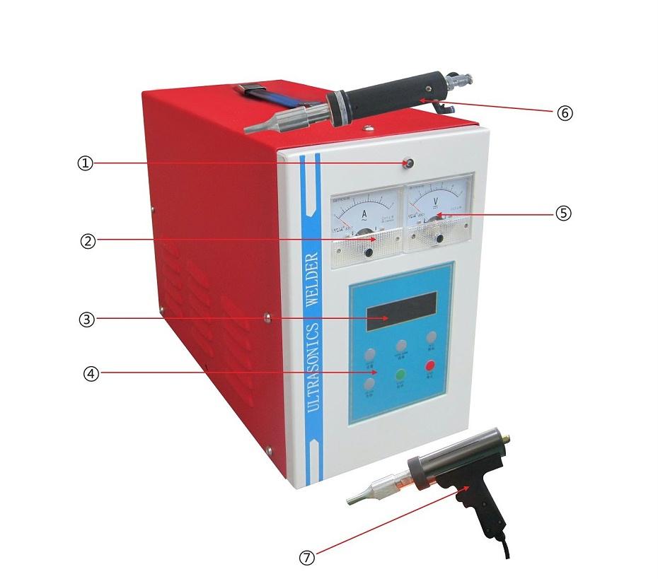 手握式焊接机标准款结构图
