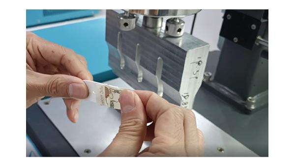 灵科超声波衣领商标焊接